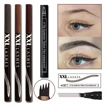 4-Tip Eyebrow Tattoo Pen with microblading effect .... grey