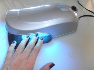 Handy UV light aided curing device 9W in silver
