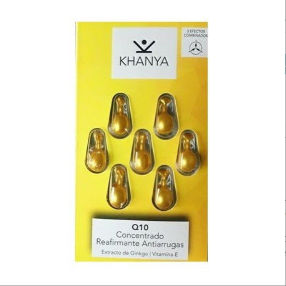 Anti-wrinkle face pearls from Khanya - Concentrate for face and eyes with Q10, against skin aging,