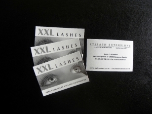 1000 XXL Lashes Business Cards with your Name
