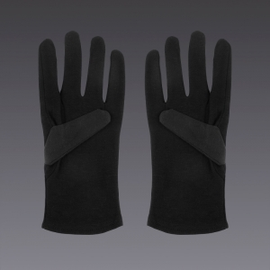Cotton gloves - in black