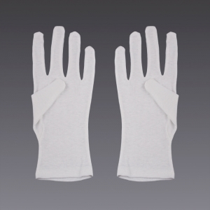 Cotton gloves - in white