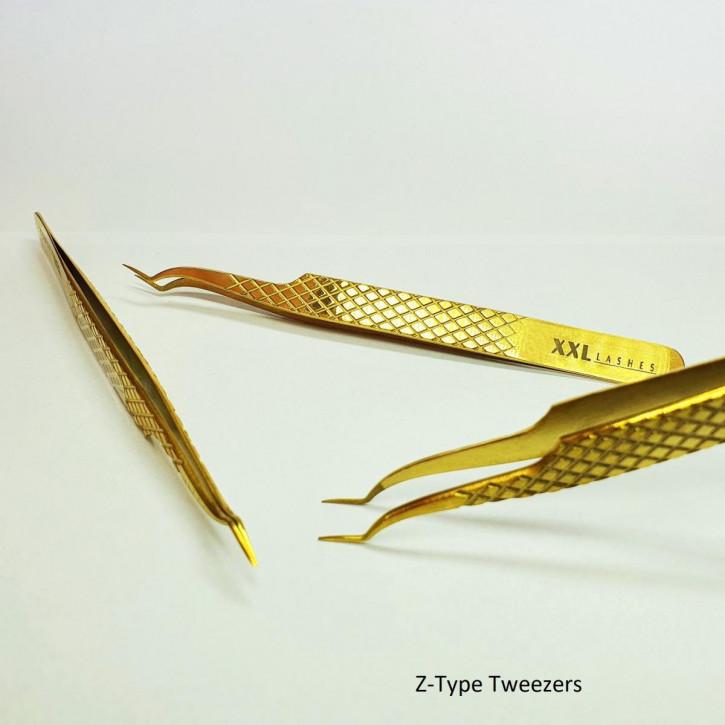 Diamond Tip Precision Tweezers for Russian Volume Eyelash Extension Technique - Z-type