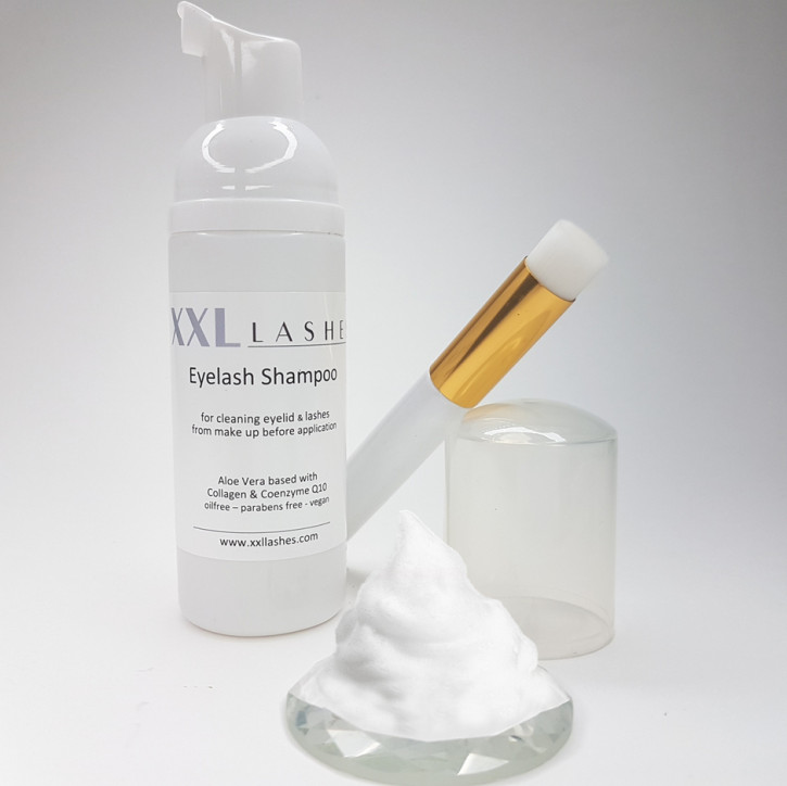 XXL Lashes Foam Cleanser, Lash Shampoo 50 ml - including special cleaning brush