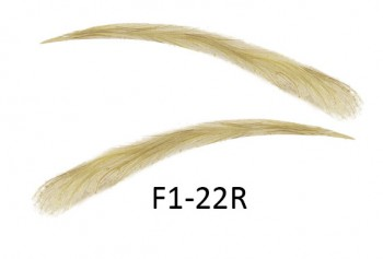Artificial, semi-permanent, stick-on eyebrows made of 100% natural hair, handmade, F1-22R
