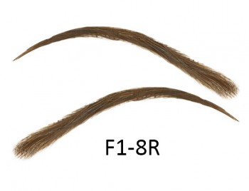 Artificial, semi-permanent, stick-on eyebrows made of 100% natural hair, handmade, F1-8R