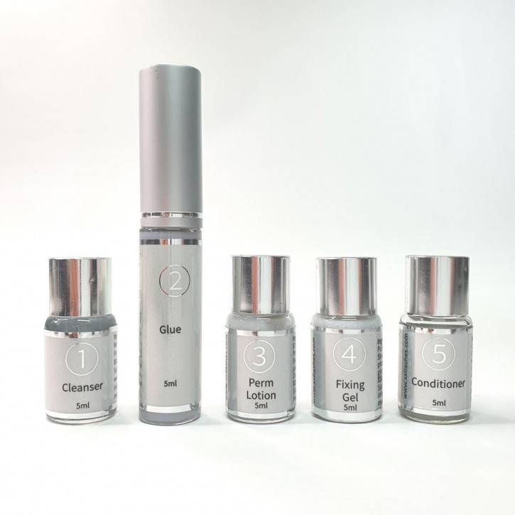 Super Lash Lift Kit Lotions, individual refill bottles from the eyelash lifting kit
