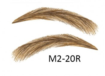 Artificial, semi-permanent, stick-on eyebrows made of 100% natural hair, handmade, M2-20R