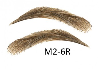 Artificial, semi-permanent, stick-on eyebrows made of 100% natural hair, handmade, M2-6R