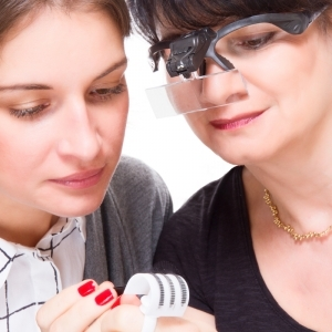 Magnifying glasses with dual LED and 5 different lens, detachable bandeau and batteries