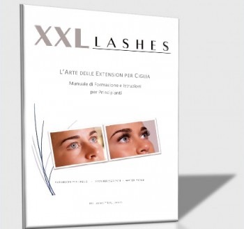Training Manual and Instruction Booklet for semi permanent Eyelash Extensions-Italian