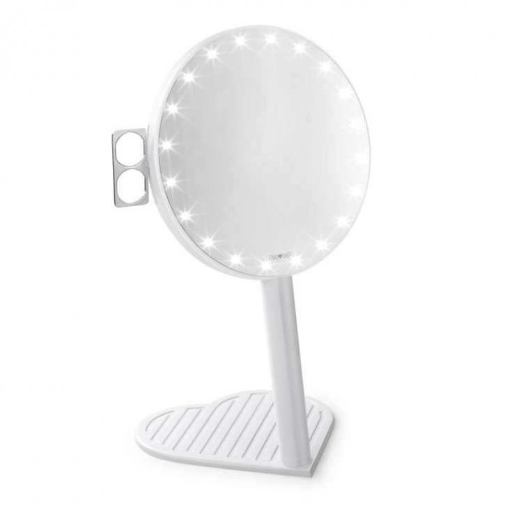 RIKI GRACEFUL 7X Magnifying Mirror with LED lighting and three-stage dimming