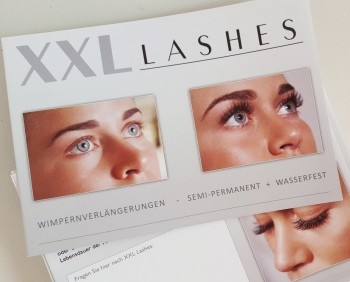 "100 piece salon folder ""XXL Lashes Eyelash Extension"" (A6, high gloss, 6 sides)"