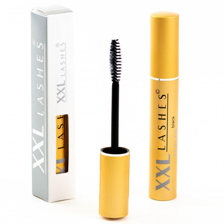 XXL Lashes Sealer for eyelash extensions after care, Longer-Life Coating for eyelashes - in black and transparent