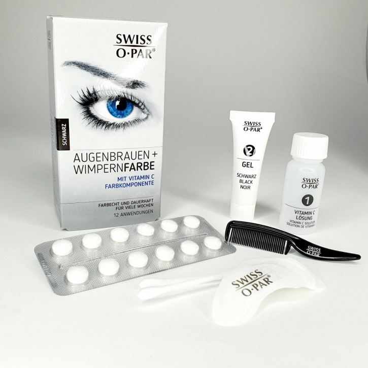 Eyebrow and eyelash dye 2.0 from Swiss o-Par, waterproof, colourfast - black