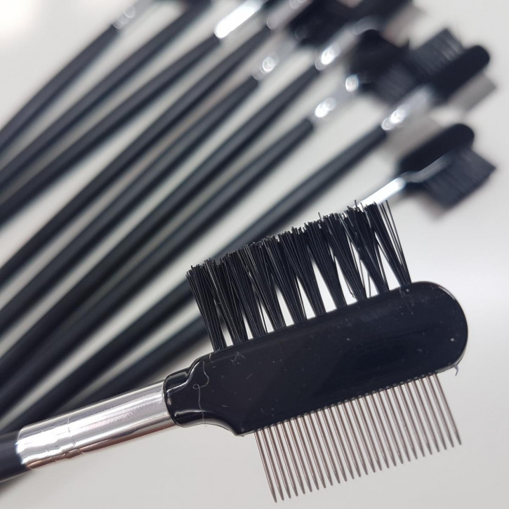 10 x eyelash combs with stainless steel teeth - [2nd range]