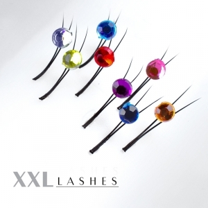 Y-Lashes with Crystal Stones