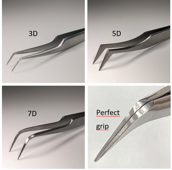xD Volume Technique Tweezers for Russian Volume Technique, 3D, 5D or 7D