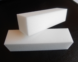 2 white Nail Buffer Blocks