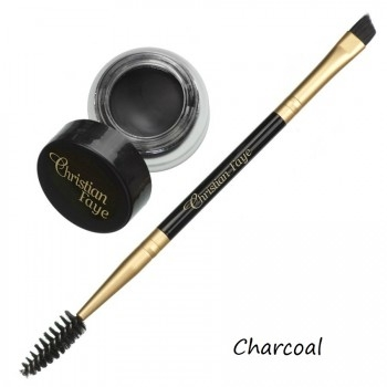 Semi Permanent Eyebrow DIP Pomade, incl. double side brush - charcoal