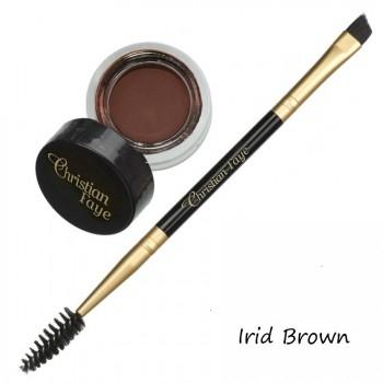 Semi Permanent Eyebrow DIP Pomade, incl. double side brush - irid brown