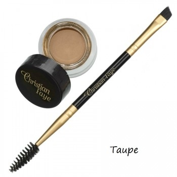 Semi Permanent Eyebrow DIP Pomade, incl. double side brush - taupe
