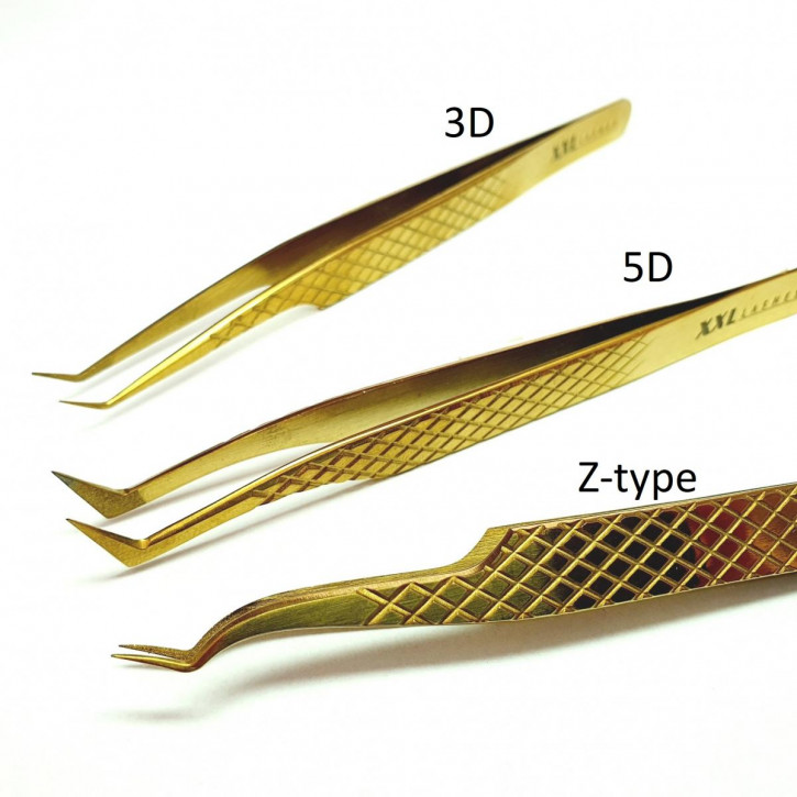 Diamond Tip Precision Tweezers for Russian Volume Eyelash Extension Technique