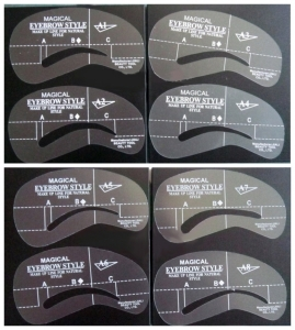 8 different eyebrow stencils