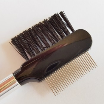 Deluxe eyelash comb with stainless steel teeth