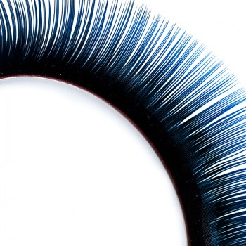 Two-tone Mink-Lashes, black/blue, 12 mm