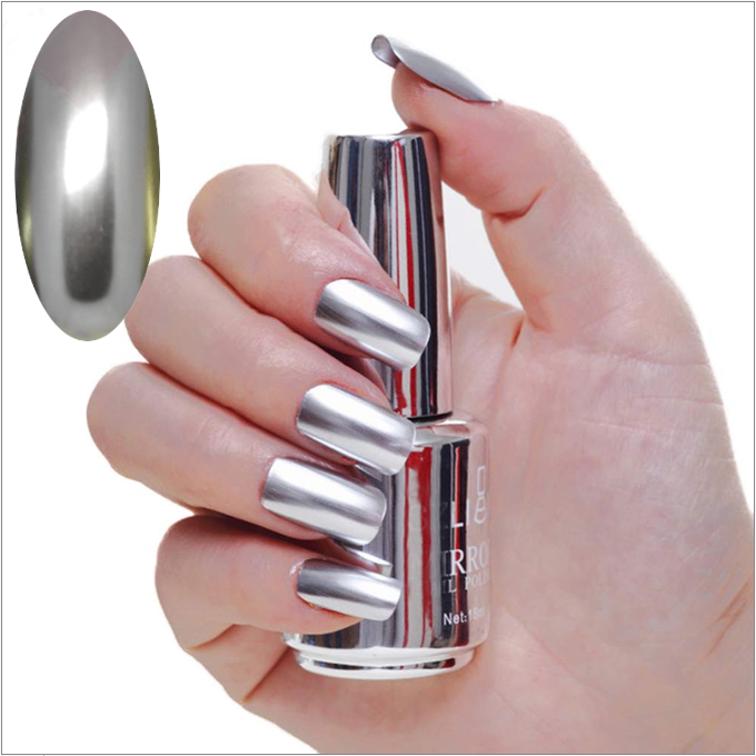 Mirror Effect Nail polish, metallic nail polish