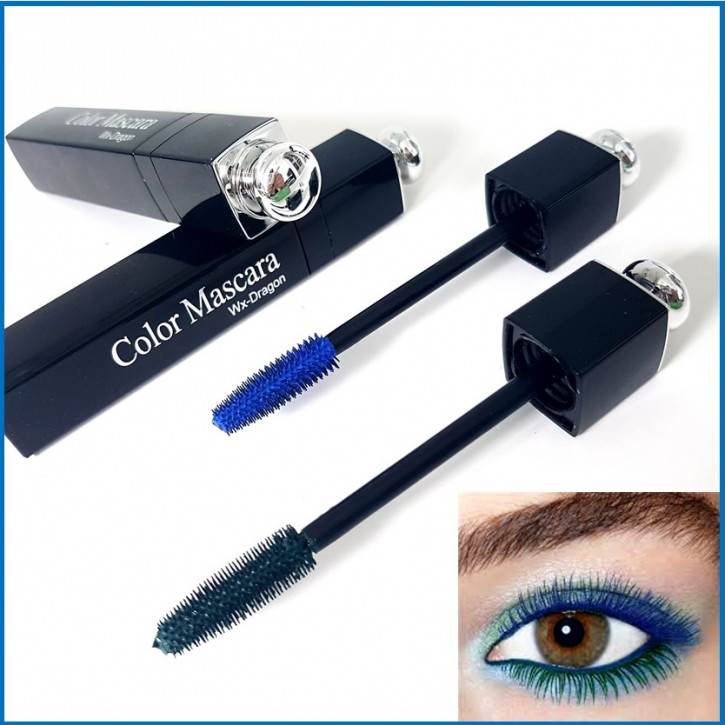 Blue mascara, water based, mascara with a chic design thus suited for eyelash extensions