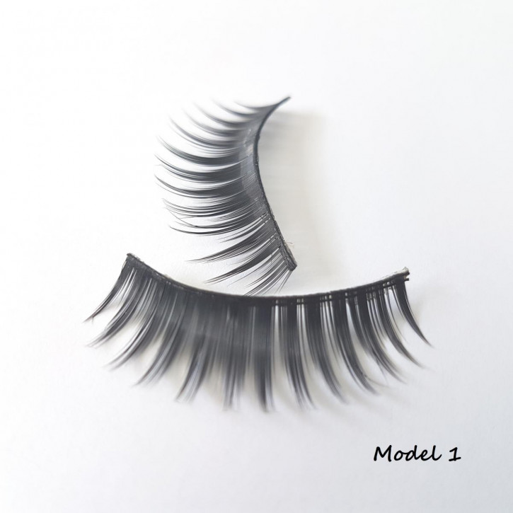 1 Set of Strip Eyelashes, made of fine silk synthetic fiber Model 01