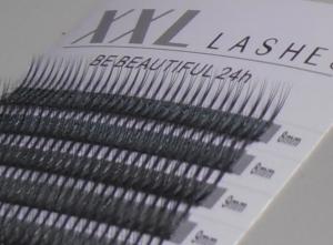 W-Lashes - 300 pcs | 0,10 mm thick | length 8-15 mm | C-Curl - (W10CM)