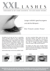 "500 pcs Promotion Flyer A5 - ""eye"" - German, with own address"