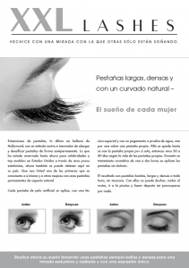 "100 pcs Promotion Flyer A5 - ""eye"" - Spanish, with own address"