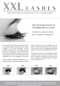 """500 pcs Promotion Flyer A5 - """"eye"""" - French, with own address"""