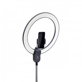 AURA Ring lamp, LED daylight with smartphone holder and USB port for shadow free lighting, ideal for cosmetic applications, bloggers, taking selfies and photography