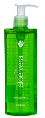 Aloe vera gel 390 ml, 100 % natural, chamomile extract, dermatologically tested, moisturising care for skin and hair