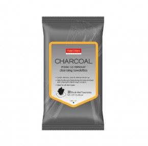 Purederm Charcoal Makeup Remover Cleansing Towelettes