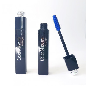 Blue and green mascara, water based, mascara with a chic design thus suited for eyelash extensions