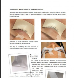Training Manual and Instruction Booklet for semi permanent Eyelash Extensions, English