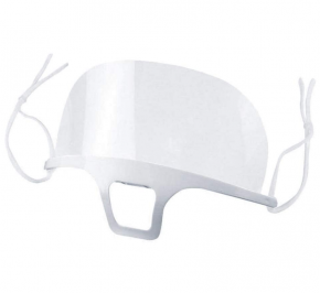Transparent plastic face mouth visor, face shield with adjustable elastic band