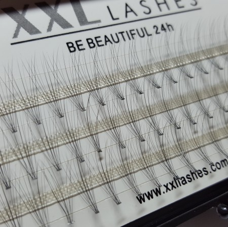 "10 D Volume Flare Lashes, 60 pcs, without knots, C curl, 0,05 mm ""thin"", wafer thin - also known as ""hot melting lashes"""