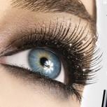"Double Glitter Mascara ""2-in-1"" in five different glitter colours"