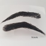 Semi-permanent, stick on bushy eyebrows for men, handmade, made from 100% natural hair, seconds at a reduced price