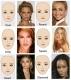 8 different eyebrow stencils