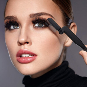 Folding eyelash comb, foldable mascara separator with stainless steel teeth recommended for eyelash extensions