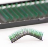 Two-tone Mink-Lashes, deep black at the base with blue or green tips