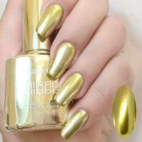 Mirror Effect Nail polish, metallic nail polish